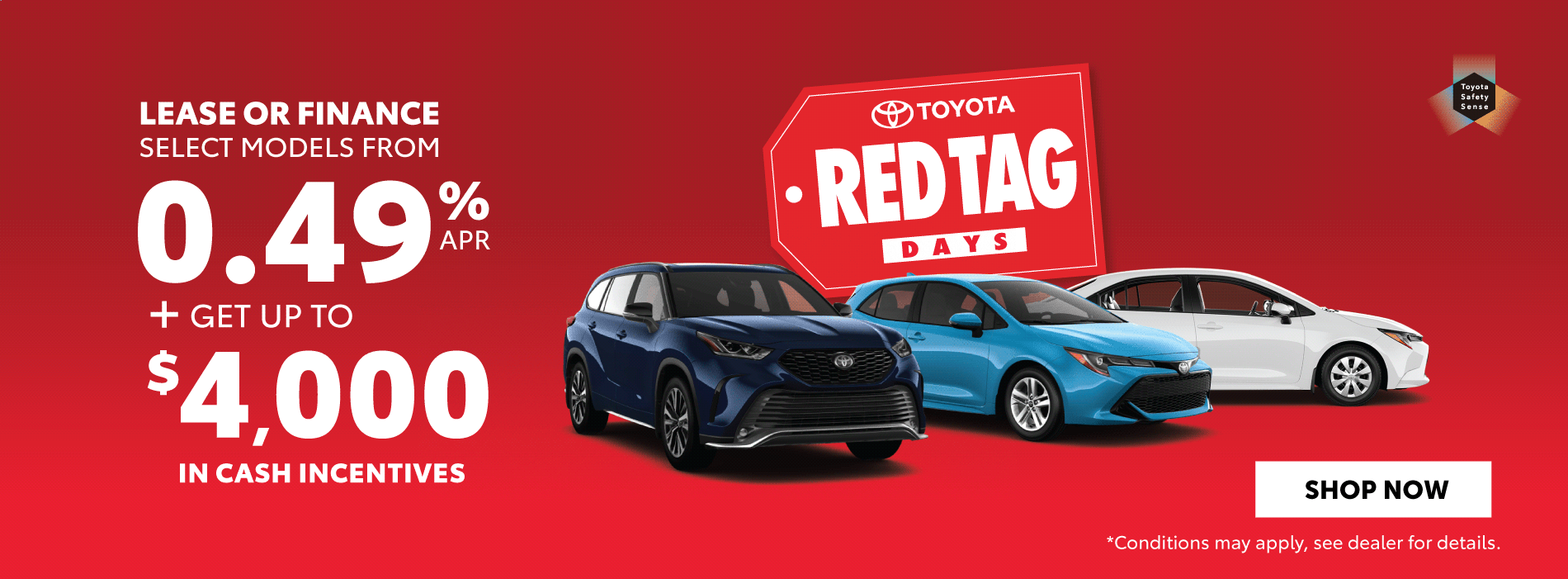 Red Tag Days Offers Orangeville Toyota
